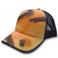 Front pic of 'Urban Camo' Cap, Orange on Black