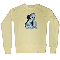 Front pic of 'Blender' Women's Crew Sweat, Grey on Lemon