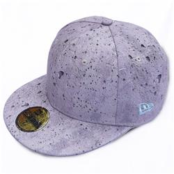 Front pic of 'Concrete Print' New Era 59FIFTY Baseball Cap, Grey on Grey