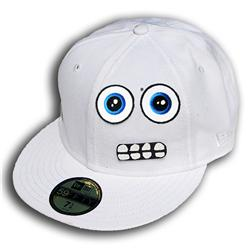 Front pic of 'Dwight' New Era 59FIFTY Baseball Cap, Blue on White