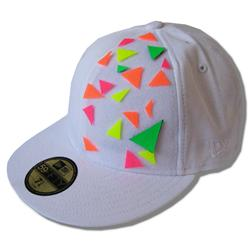 Front pic of 'Flurangles' New Era 59FIFTY Baseball Cap, Assorted on White
