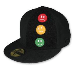 Front pic of 'Traffic Lights' New Era 59FIFTY Baseball Cap, Assorted on Black