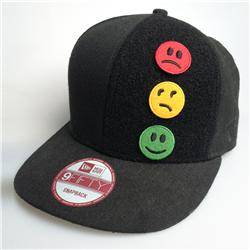 Front pic of 'Traffic Lights' Snapback Cap, Assorted on Black