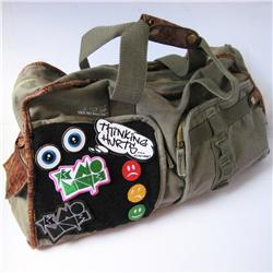 Front pic of 'Velcro Patch' Cabin Bag, Assorted on Army