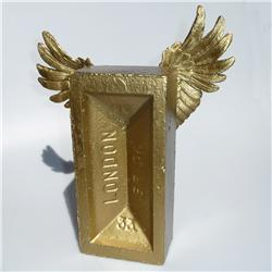 Buy this Sculpture: Design: Winged Brick (Midi); Colour: Gold on Gold; See detailed product info and choose sizing options on next screen
