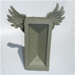 Buy this Sculpture: Design: Winged Brick; Colour: Olive on Olive; See detailed product info and choose sizing options on next screen