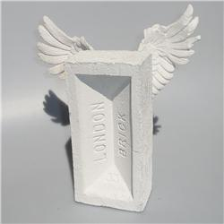 Buy this Sculpture: Design: Winged Brick; Colour: White on White; See detailed product info and choose sizing options on next screen