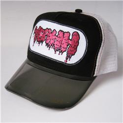 Front pic of 'Yeahh' Cap, Hot Pink on Black
