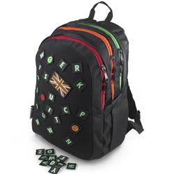 Front pic of 'Apatchee' Rucksack, Assorted on Black