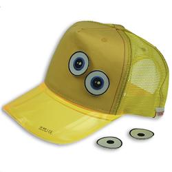 Front pic of 'Ducky' Cap, Yellow on Yellow
