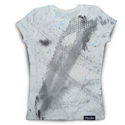Front pic of 'FilthyDirty' Women's T-Shirt, Grey on White
