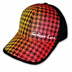 Front pic of 'Gideon Conn' Cap, Yellow on Red