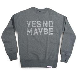 Front pic of 'Lifestyle' Men's Crew Sweat, Grey on Airforce