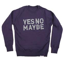 Front pic of 'Lifestyle' Men's Crew Sweat, Grey on Navy