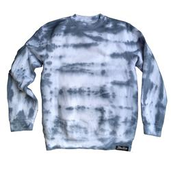 Front pic of 'FilthyDirty' Men's Crew Sweat, Grey on White