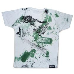 Front pic of 'FilthyDirty' Men's T-Shirt, Moss on White