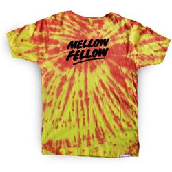 Buy this T-Shirt: Design: Mellow Fellow; Colour: Orange on Yellow; See detailed product info and choose sizing options on next screen