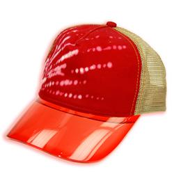 Front pic of 'Rattacap' Cap, White on Red