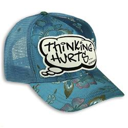 Buy this Cap: Design: Thinking Hurts; Colour: Multicolour on Baby Blue; See detailed product info and choose sizing options on next screen