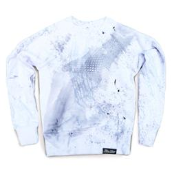 Front pic of 'FilthyDirty' Women's Crew Sweat, Grey on White