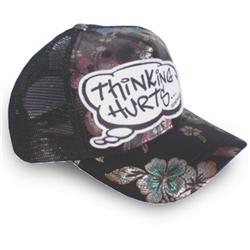 Front pic of 'Thinking Hurts' Cap, Multicolour on Black