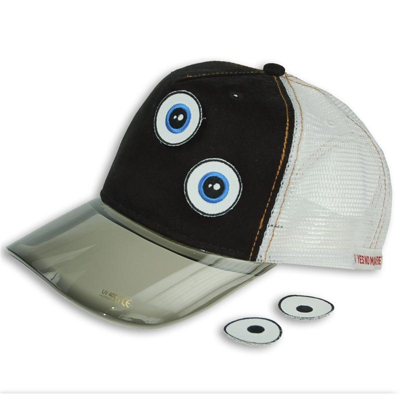 Front view of Ducky Cap (White on Black)
