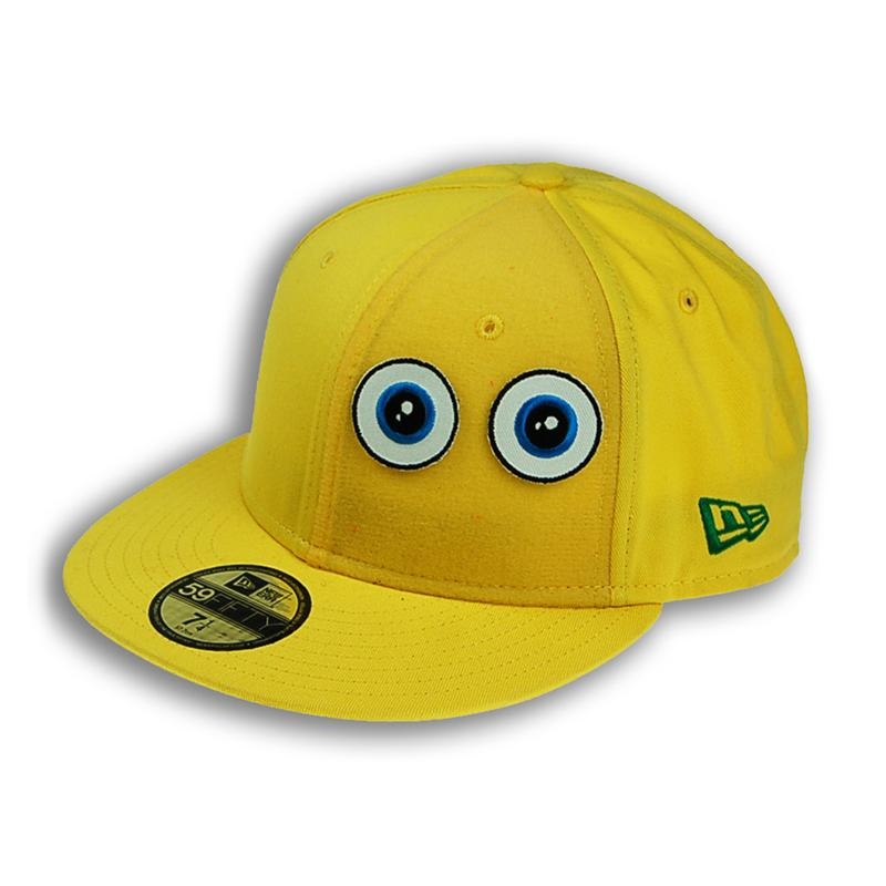 Front view of Ducky New Era 59FIFTY Baseball Cap (White on Yellow)