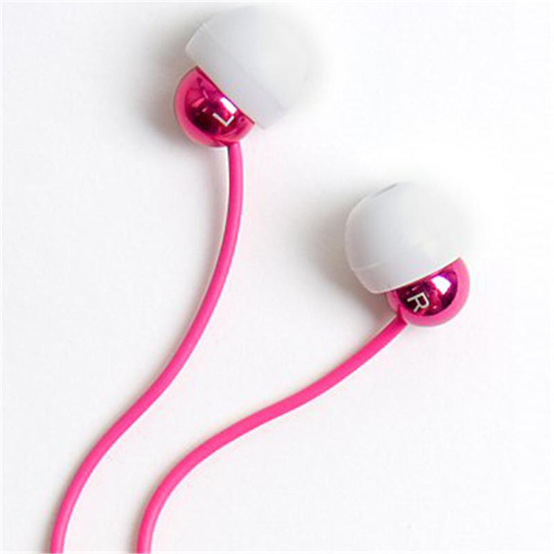 Front view of Radiopaq Dots Earphones (Pink on Pink)
