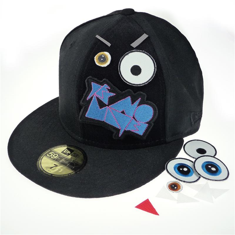 a7ce8734712 ... Side view of Hook and Loop Edition - Monster New Era 59FIFTY Baseball  Cap (White
