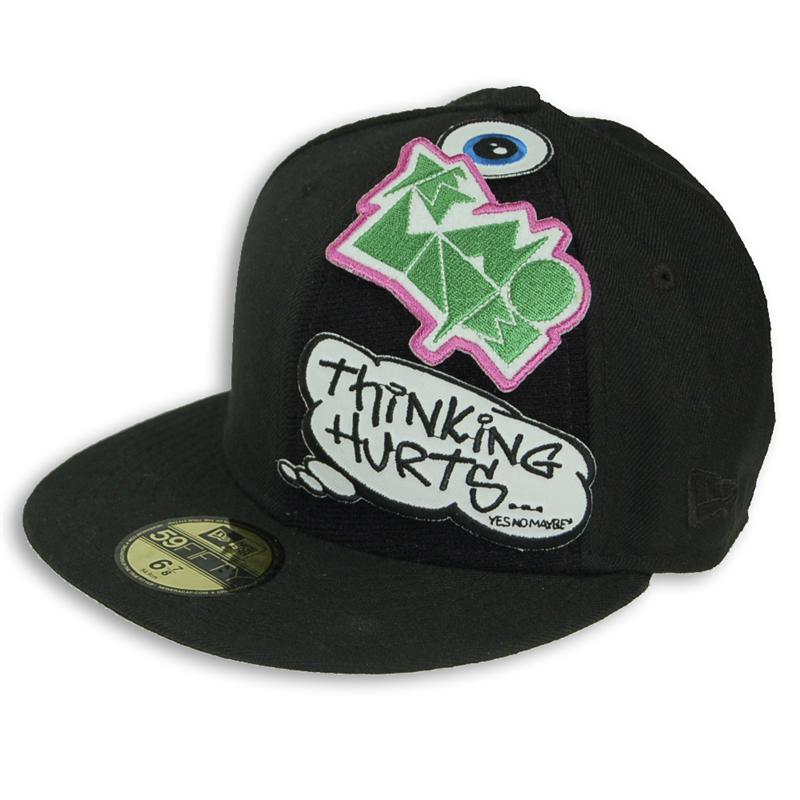 373e4fc84c6 ... Back view of Hook and Loop Patch New Era 59FIFTY Baseball Cap  (Multicolour on Black ...
