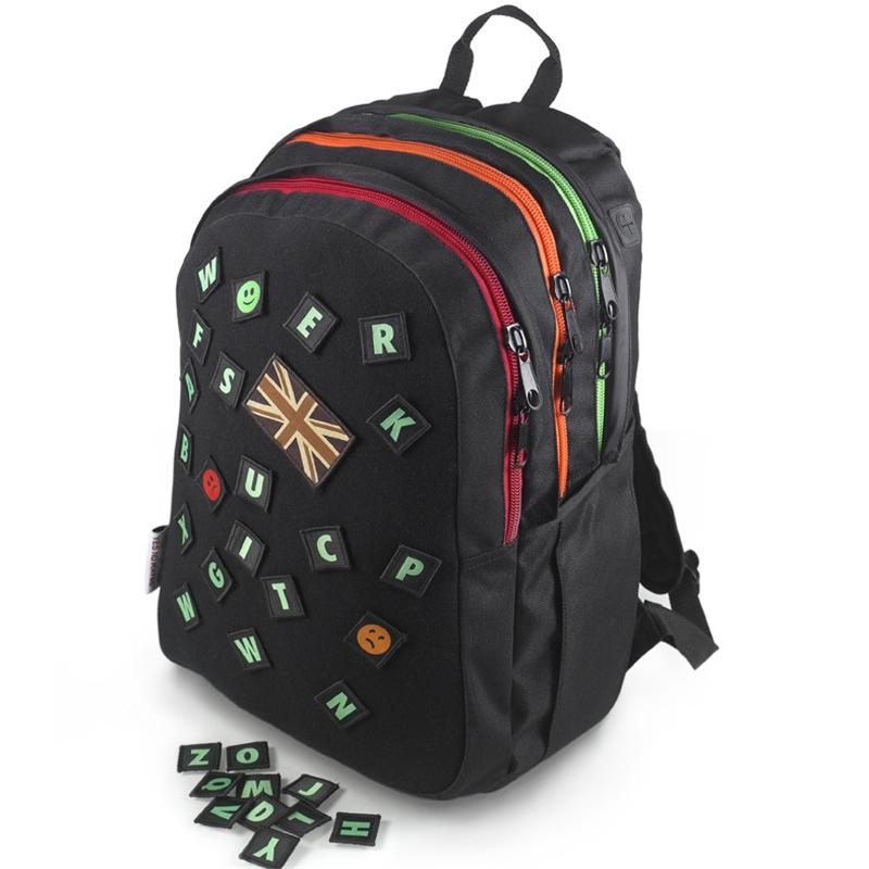 Front view of Apatchee Rucksack (Assorted on Black)
