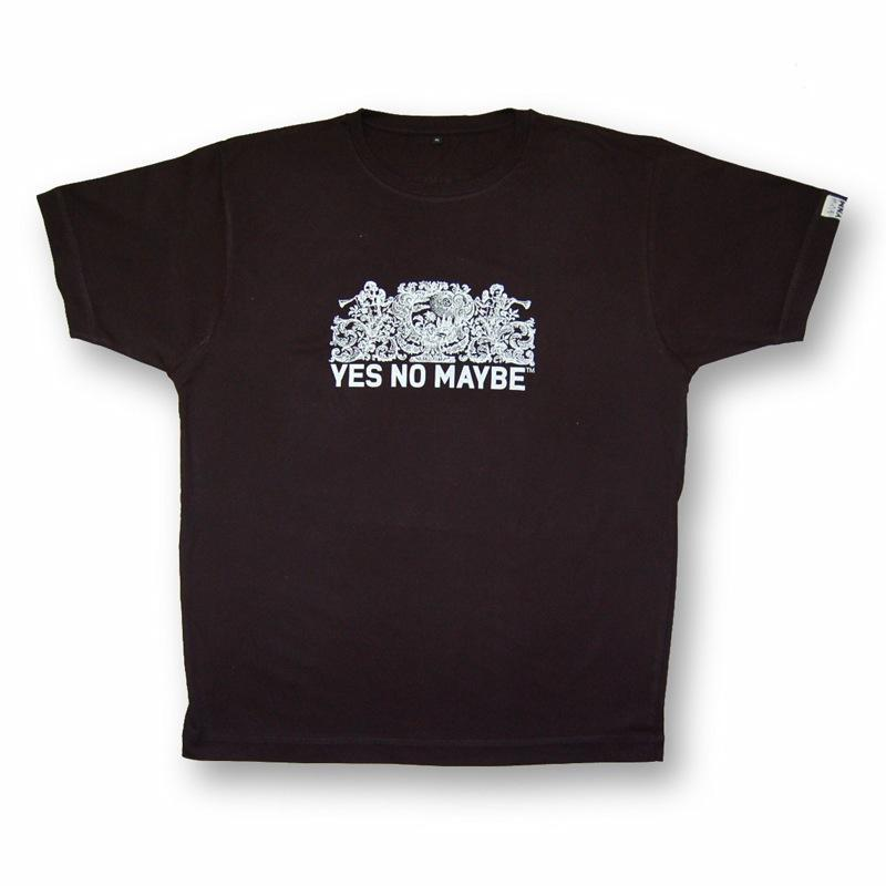 Front view of Crests Men's T-Shirt (White on Navy)