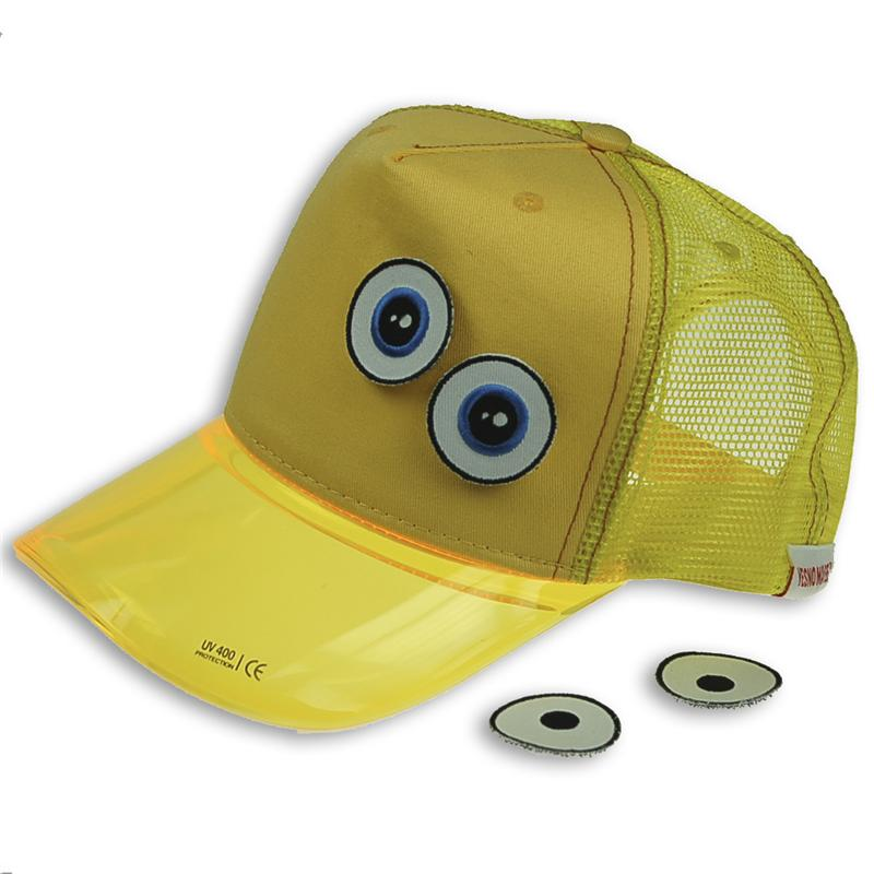 Front view of Ducky Cap (Yellow on Yellow)