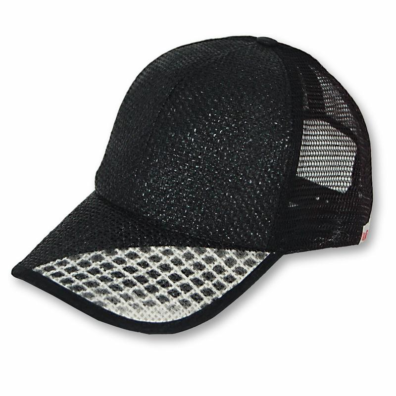 Front view of Flash Cap (Grey on Black)