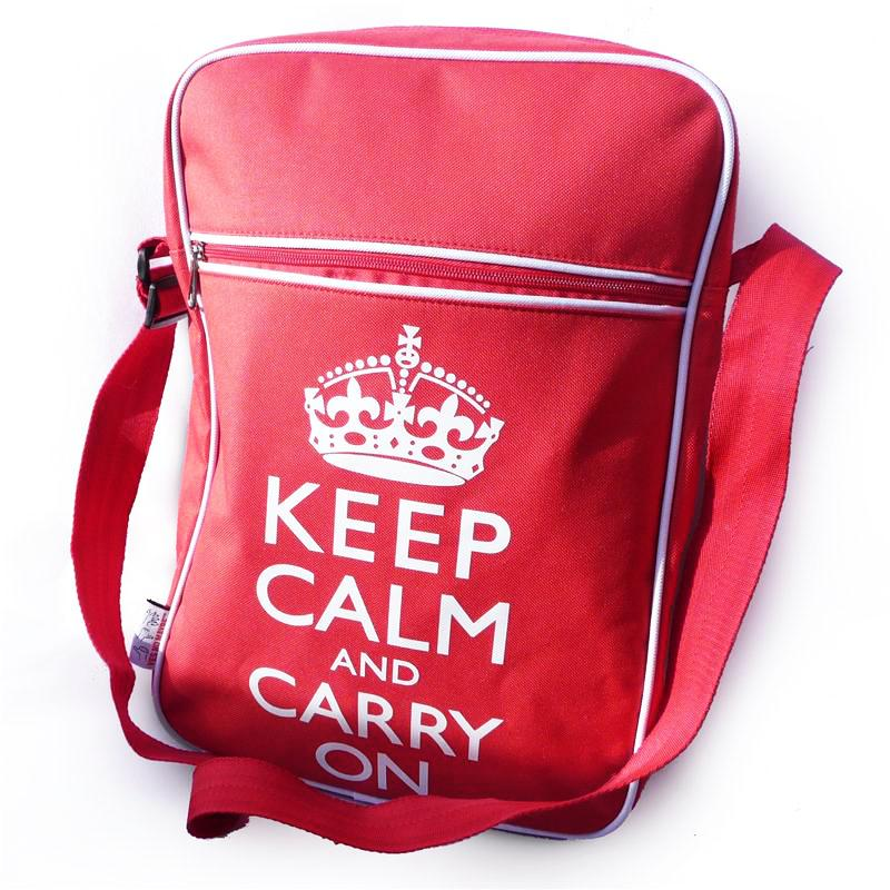 Keep Calm and Carry on Flight Bag by Yes No Maybe