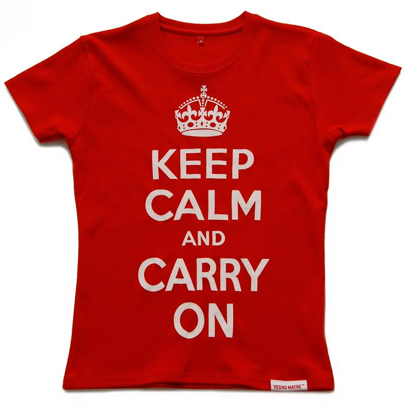 Front of Yes No Maybe™ Keep Calm and Carry OnT