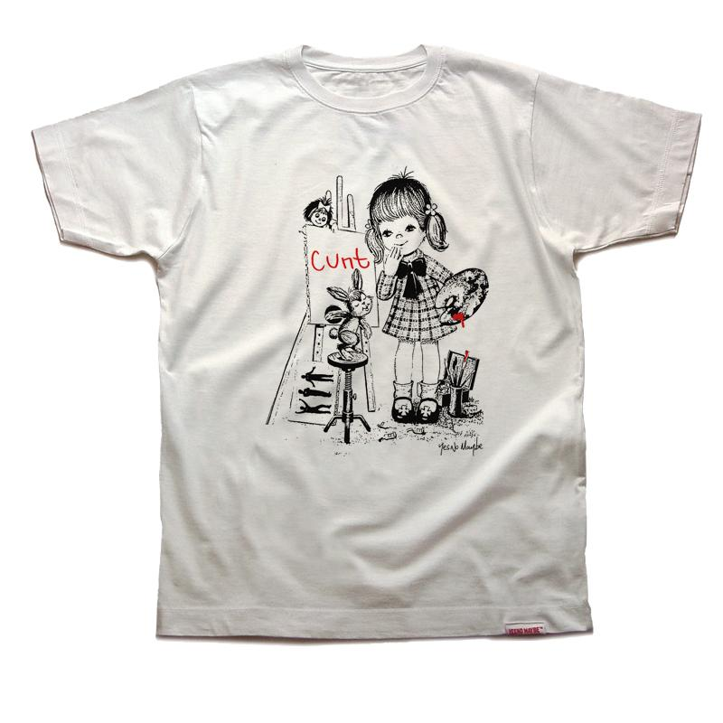 Front of YNM 'CUNT' T shirt