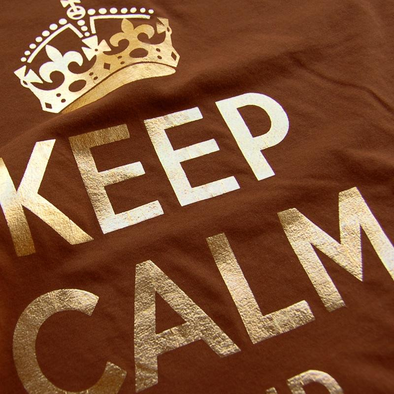 'Keep Calm and Carry On' Women's Raw Cut T - Yes No Maybe ...