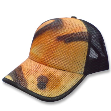 Front view of Urban Camo Cap (Orange on Black)